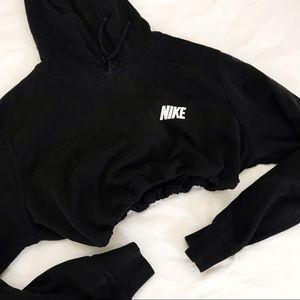 Vintage Nike drawstring crop hoodie
